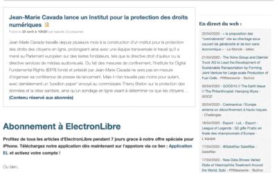Article de ElectronLibre