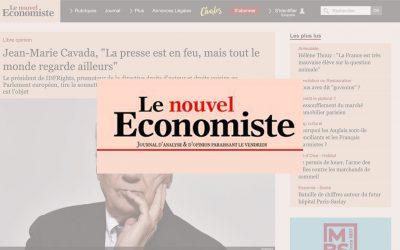 """Le Nouvel Economiste – Jean-Marie Cavada, """"La presse est en feu, mais tout le monde regarde ailleurs"""""""