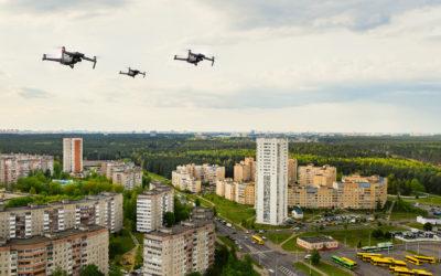 Vols de drones suspendus