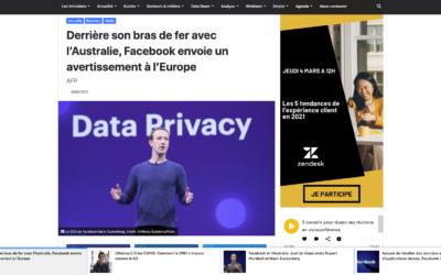 Derrière son bras de fer avec l'Australie, Facebook envoie un avertissement à l'Europe – Frenchweb