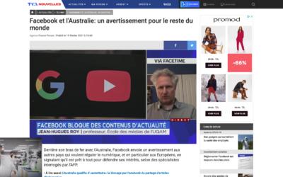 Facebook et l'Australie: un avertissement pour le reste du monde  – TVAnouvelles