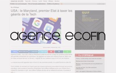 USA : le Maryland, premier Etat à taxer les géants de la Tech – Agence Ecofin
