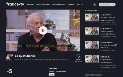 JM Cavada invité de la Quotidienne France 5 – Faut-il mettre fin à l'anonymat sur les réseaux sociaux ? – France 5