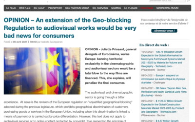 OPINION – An extension of the Geo-blocking Regulation to audiovisual works would be very bad news for consumers – ElectronLibre