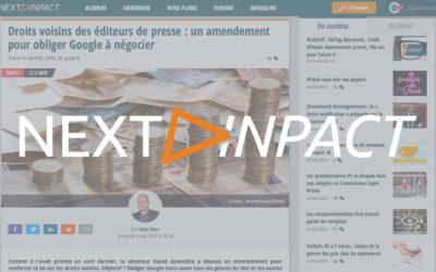 Droits voisins des éditeurs de presse : un amendement pour obliger Google à négocier – Next INpact