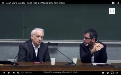 Conférence de M. Jean-Marie CAVADA à l'Université de Nantes