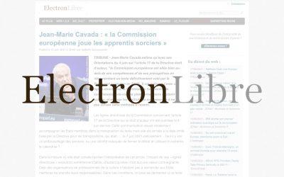 Jean-Marie Cavada : « la Commission européenne joue les apprentis sorciers » – ElectronLibre
