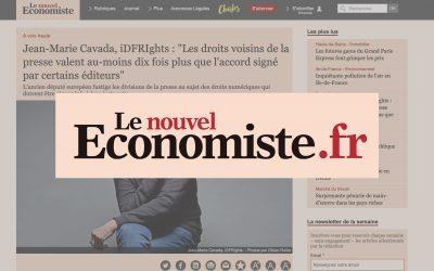 """Jean-Marie Cavada, iDFRIghts : """"Les droits voisins de la presse valent au-moins dix fois plus que l'accord signé par certains éditeurs"""" – Le nouvel Économiste"""