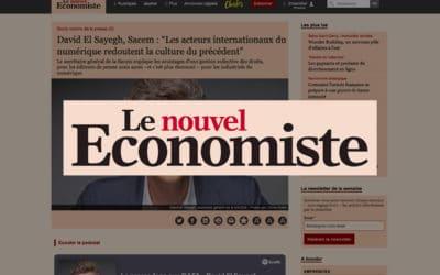 """David El Sayegh, Sacem : """"Les acteurs internationaux du numérique redoutent la culture du précédent"""" – Le nouvel Économiste"""