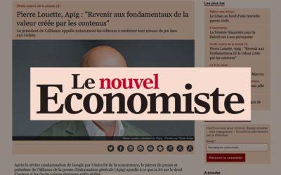 """Pierre Louette, Apig : """"Revenir aux fondamentaux de la valeur créée par les contenus"""" – Le Nouvel Économiste"""