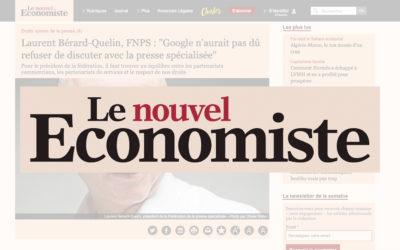 """Laurent Bérard-Quelin, FNPS : """"Google n'aurait pas dû refuser de discuter avec la presse spécialisée"""" – Le Nouvel Economiste"""