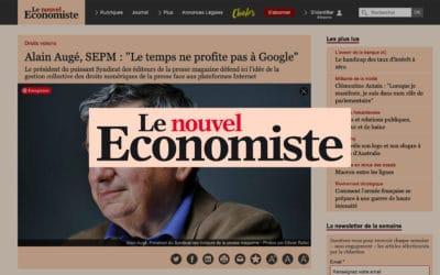"""Entretien avec Alain Augé, SEPM : """"Le temps ne profite pas à Google"""" – Le nouvel Économiste"""
