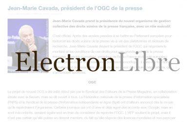 Jean-Marie Cavada, président de l'OGC de la presse – Electron Libre