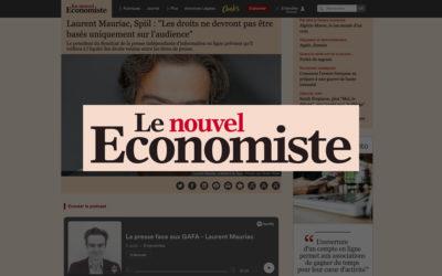 """Laurent Mauriac, Spiil : """"Les droits ne devront pas être basés uniquement sur l'audience""""- Le Nouvel Économiste"""